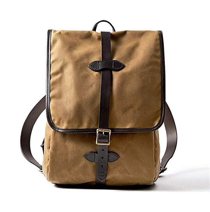 Filson Tin Cloth Backpack Dark Tan One Size Review Backpack Outfit