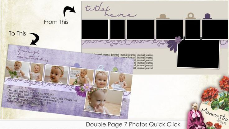 Double Page 7 Photos Quick Click Template