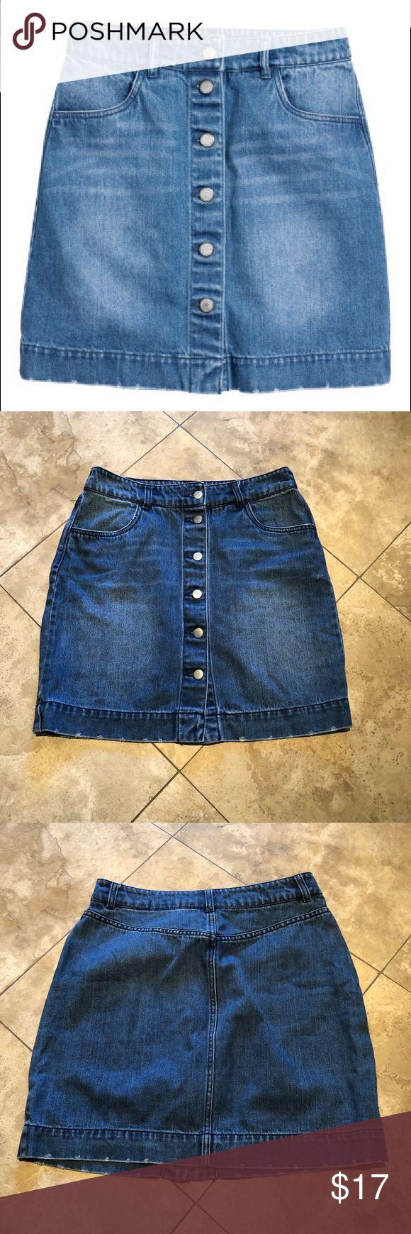 best 25+ button front denim skirt ideas on pinterest | outfits