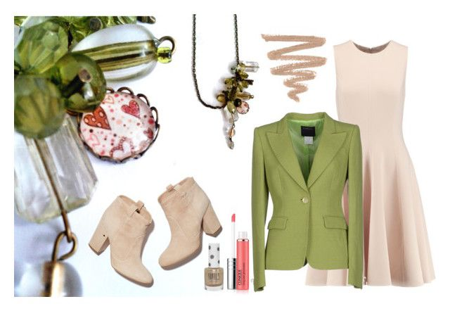 """""""Green Valentine"""" by hemos on Polyvore featuring Michael Kors, Class Roberto Cavalli, Laurence Dacade, Clinique and Topshop"""