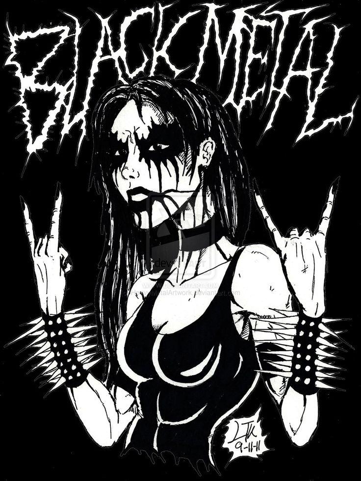 Black Metal Devil Horns by HeavyMetalArtwork.deviantart.com on @deviantART