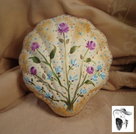 Coffret bijoux shabby chic romantique en ceramique forme coquillage : Boîtes, coffrets par la-superbe