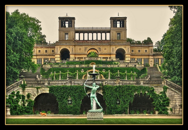 Orangery Palace, one of the many palaces in the Sanssouci park in Potsdam, Germany (near Berlin).