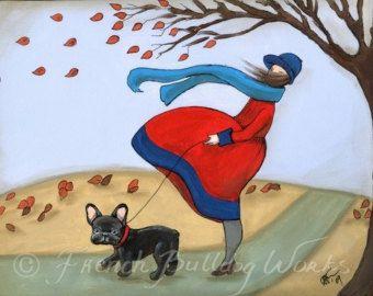 Bulldog Francés et Francais Làmina Dasha por frenchbulldogworks