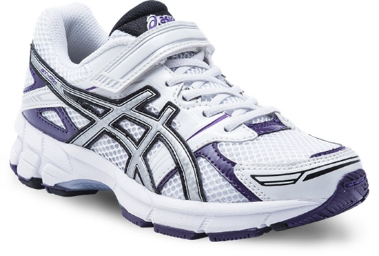 GT-1000 PS with velcro  White/Silver/Purple  Available in sizes 10 - 3