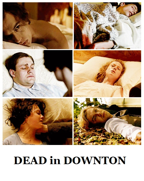 6 deaths in 9 years at the same house! (Technically Matthew didn't die in the house but he was a member of the household.) I guess it is a soap opera after all, hahah!