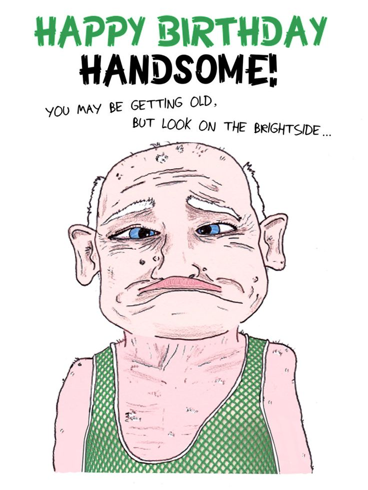 Funny Happy Birthday Images | Funny Birthday Card Happy Birthday Handsome by moozii on Etsy