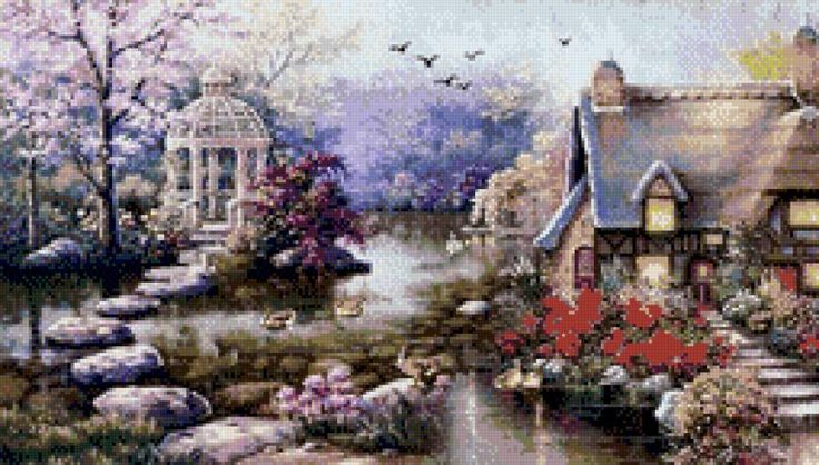 сказочный дом - Схемы вышивки - Елена20102 - Авторы - Портал «Вышивка крестом»
