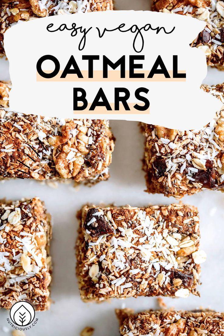 Healthy Vegan Oat Bar Recipe Gluten Free Recipe In 2020 Oatmeal Bars Healthy Oat Bar Recipes Vegan Oat Bar Recipe