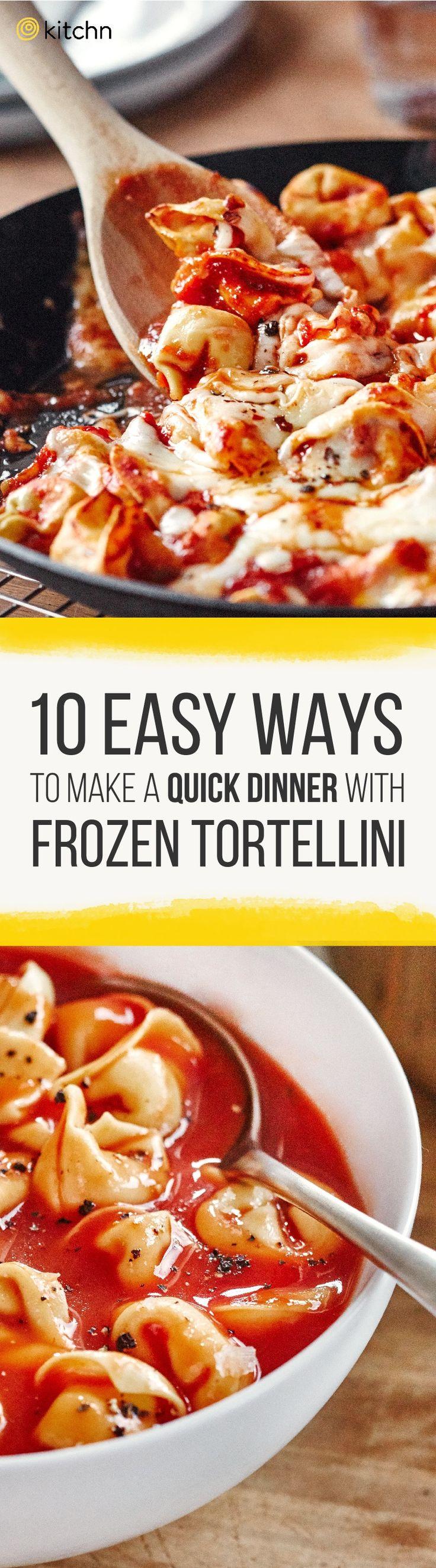 Super easy ways to make frozen tortellini differently.