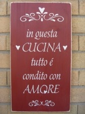 Everything in this Kitchen is seasoned with Love ~ in questa cucina tutto e condito con amore