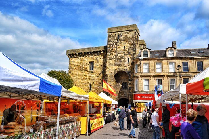 Hexham Market, which had an international flair when we visited #LYLM2015