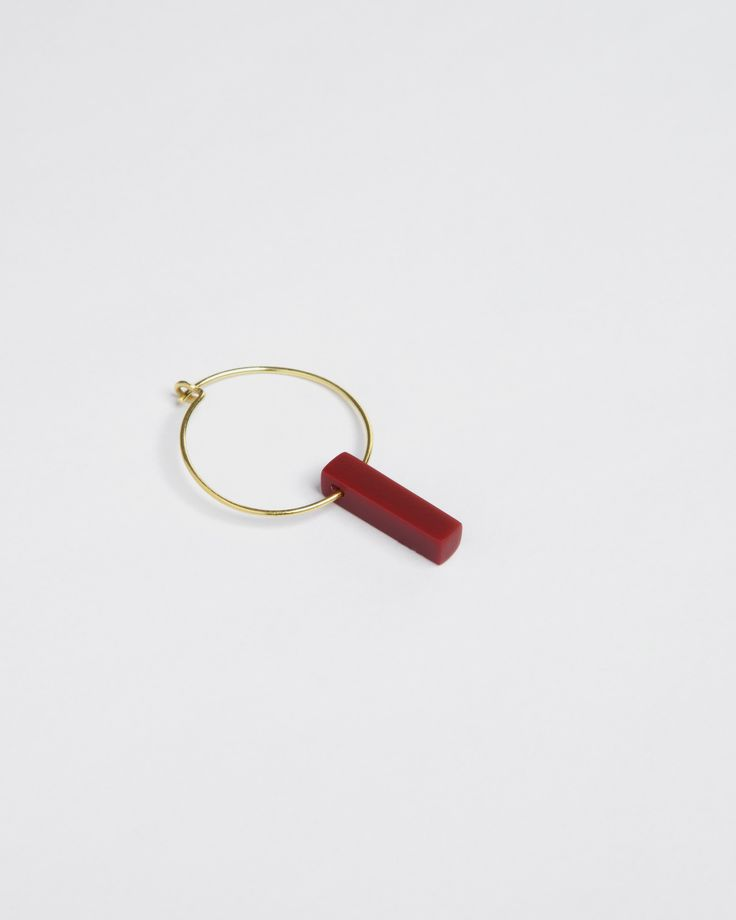 earring - lu - Anna Lawska Jewellery / collection - back to basic -