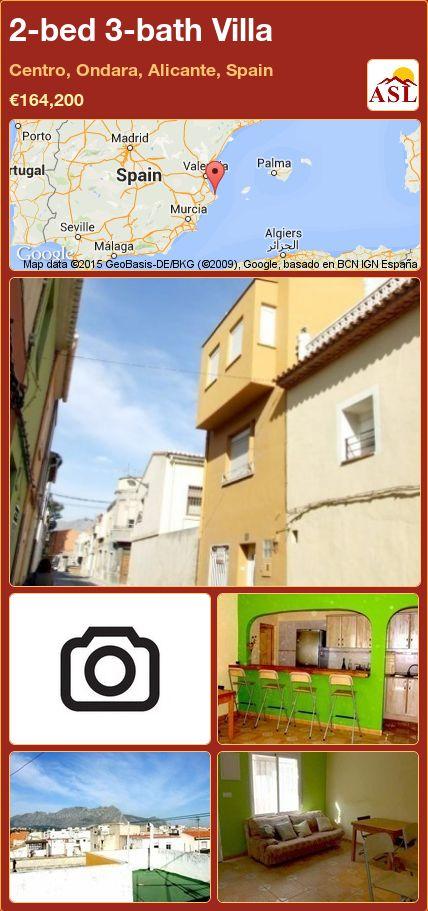 2-bed 3-bath Villa in Centro, Ondara, Alicante, Spain ►€164,200 #PropertyForSaleInSpain