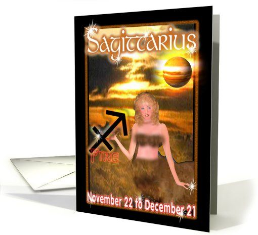 Happy Birthday SAGITTARIUS     DATE - November 22 - December 21   SYMBOL - The Archer   ELEMENT - Fire   PLANET - Jupiter   HOUSE - 9th   CHARACTER -   student of philosophy   honest, sense of humor, athletic     by Valxart.com for $3.00