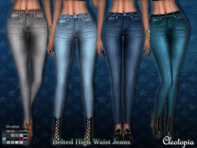 Vintage High Waist Jeans at Cleotopia via Sims 4 Updates