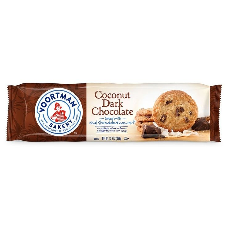 Voortman Coconut Dark Chocolate Cookies - 12.3oz