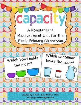 Nonstandard Capacity Unit for Kindergarten and First Grade                                                                                                                                                                                 More
