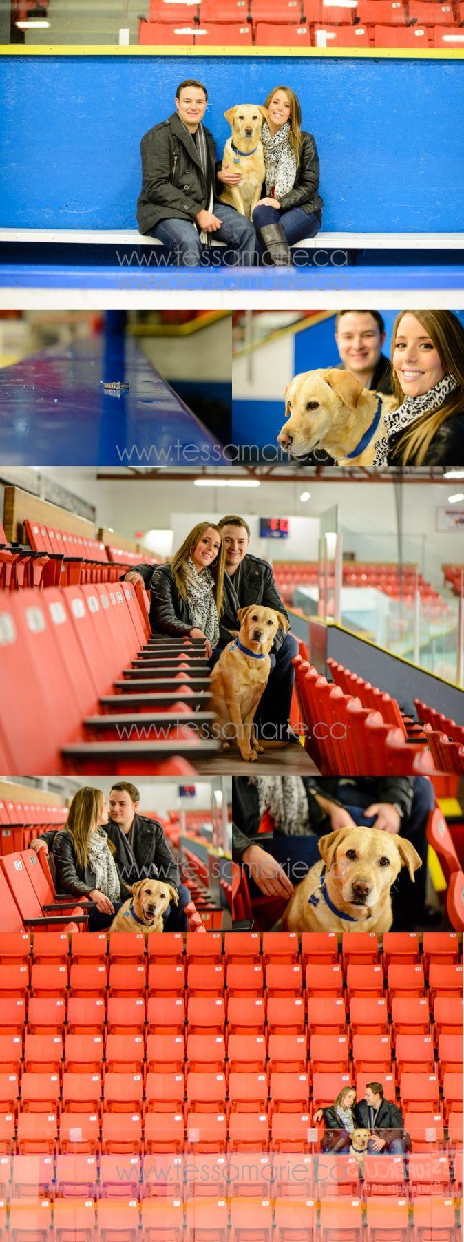 Hockey Rink Engagement Photos Calgary Wedding Photographer www.tessamarie.ca