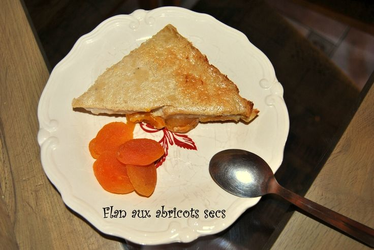 Flan aux abricots secs