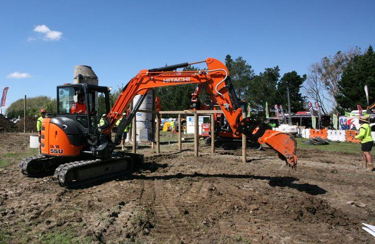 Excavator skills display at NEOC 2017