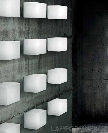 #Leucos #Cubi wall/ceiling lamp Design Mammini Candido