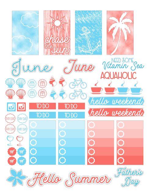 June: Planner FREEBIE | Simply Alexa Simone