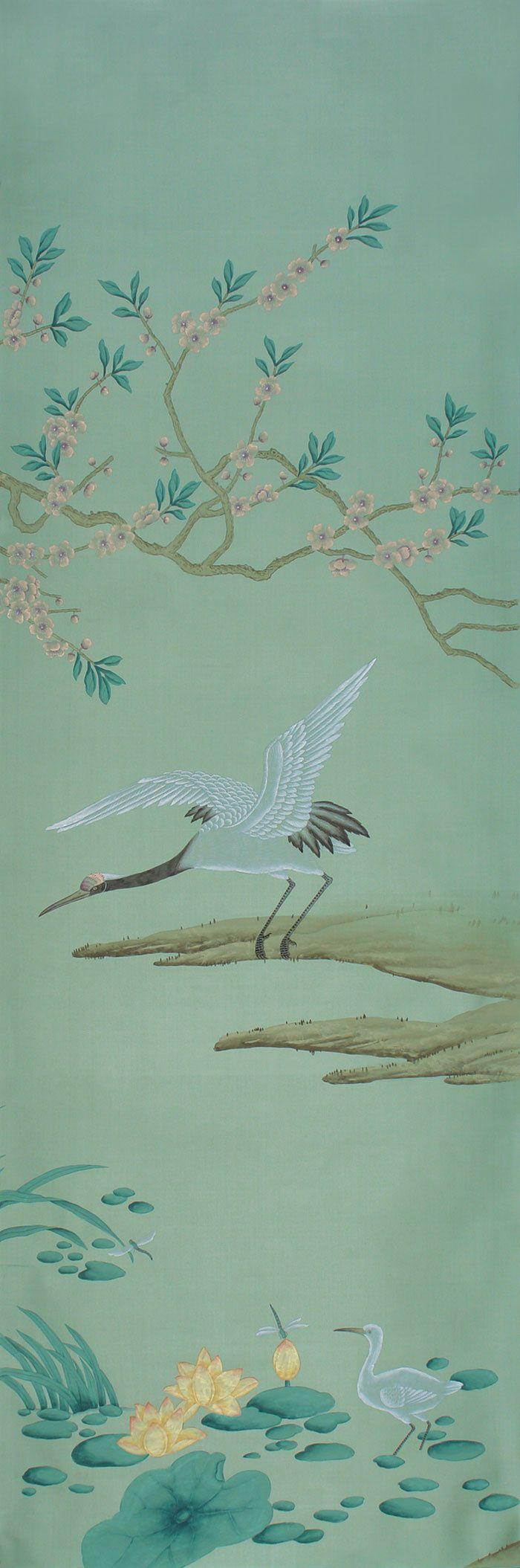 Panneau de papier peint Earlham, collection chinoiseries (de Gournay)