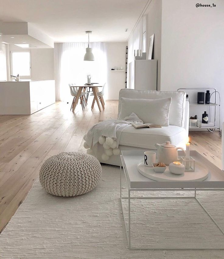 White Living! The handcrafted Strickpouf Dori is the perfect choice to make it ….
