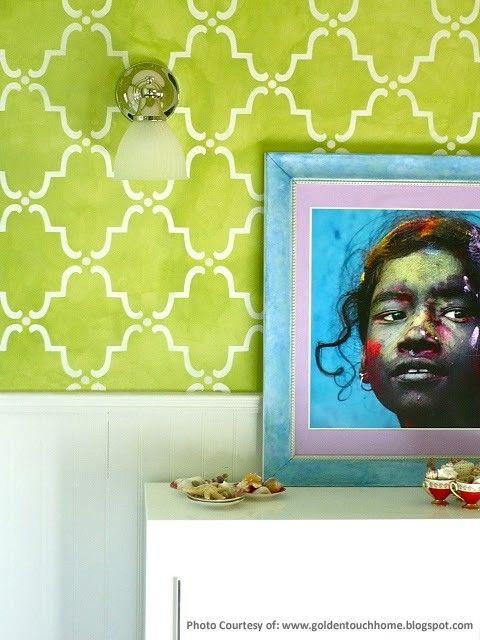 STENCILS - Moroccan Wall Stencil Moorish Trellis Allover Stencil for Easy DIY Wallpaper