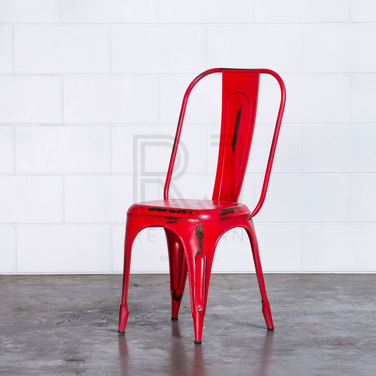 Frankie Cafe Dining Chairs - RED | $99.00