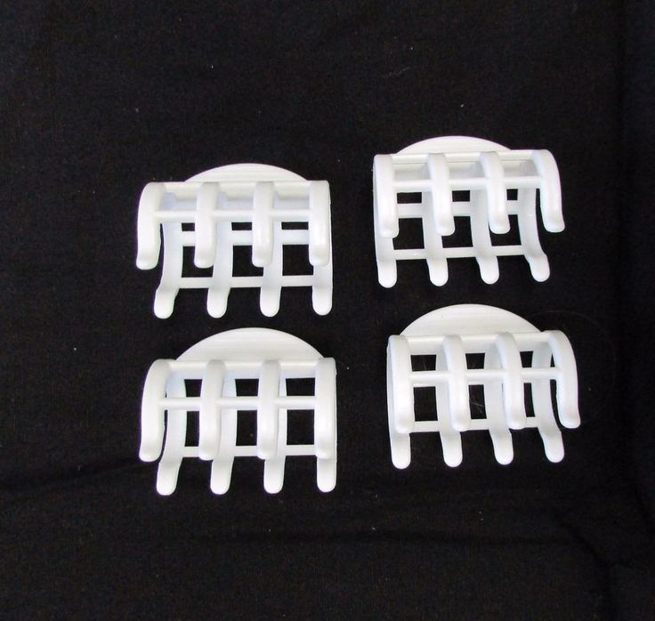 4 Remington Hair Clips for Hot Curlers Rollers Replacement White #Remington