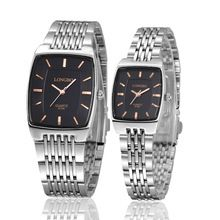 Longbo Brand relogio masculino Ultrathin Square watch men full stainless steel quartz Wristwatches Analog watch men montre homme(China (Mainland))