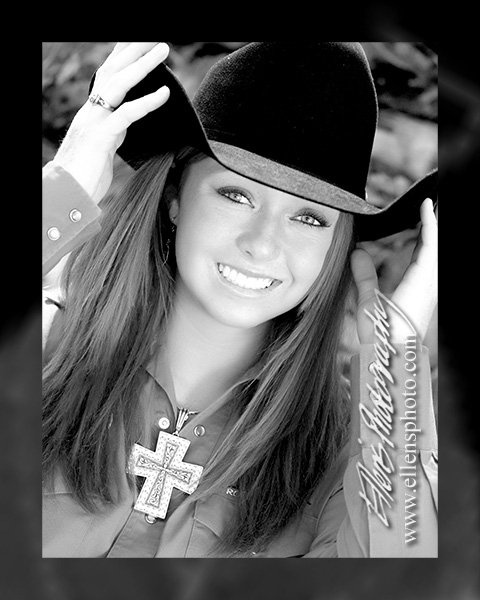"Emily's senior pic.....great senior picture Emily! You are certainly a pretty ""COWGIRL""!"