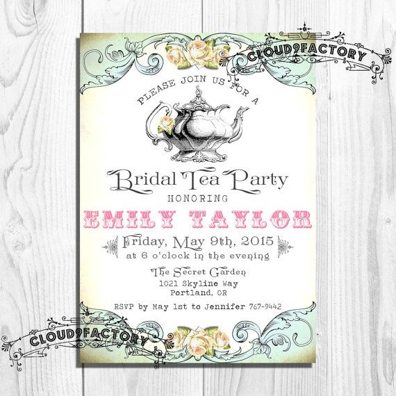42 best images about Mad Hatter Tea Party Invites – Bridal Shower Tea Party Invites