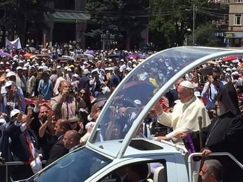 THE VISIT TO FIRST CHRISTIAN NATION. POPE FRANCIS