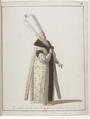 Kapıcıbaşı-[Recueil. Dessins originaux de costumes turcs : un recueil de dessins aquarelles]