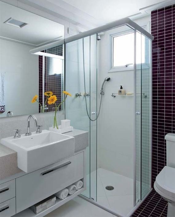 Um mini banheiro bem resolvido!