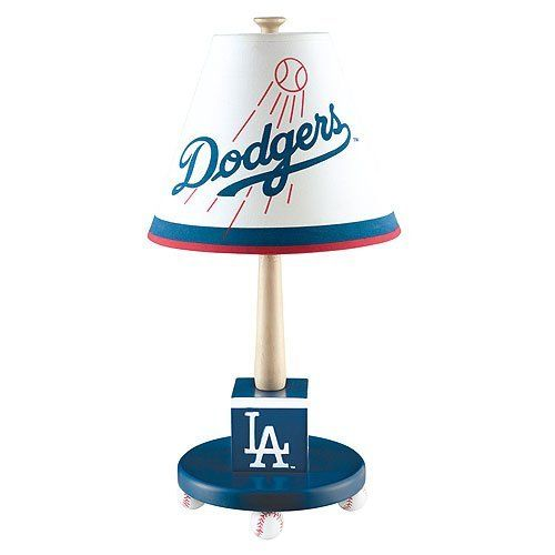 Los Angeles Dodgers Children's Table Lamp - Hand-carved, hand painted. very cute for little baseball fans.