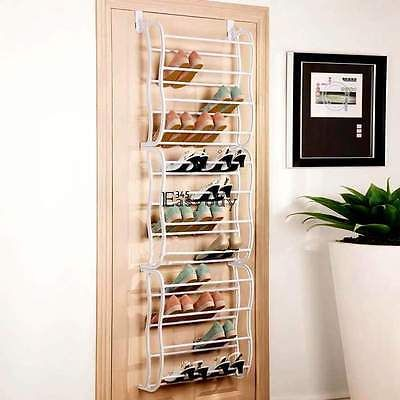 36-Pair 12 Layers Over-The-Door Hanging Shoe Holder Organizer Rack Holds