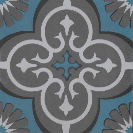 Artisan Marrakesh Turquoise/Charcoal 200x200 - tileSTONEpaver