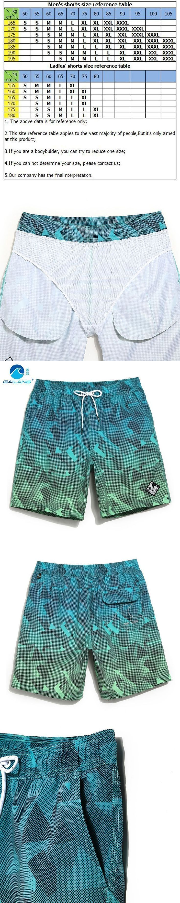 Gailang board shorts couples beach surfing liner swimwear fitness bodybuilding swimming trunks Geometric mens bathing suit men #surfingfitness #mensfitness #men'sfitness