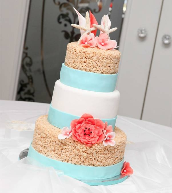 17 best Rice Crispy Wedding Cakes images on Pinterest Krispie