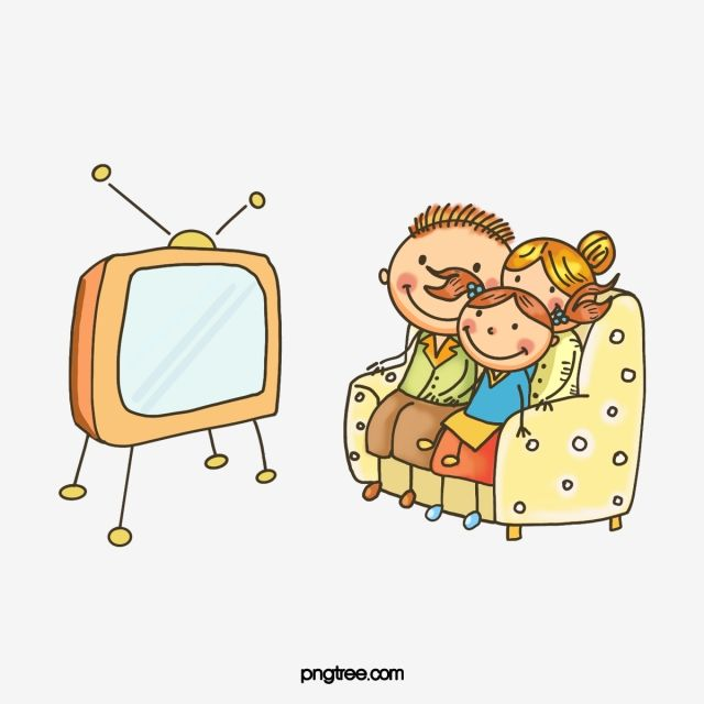 Cartoon Hand Drawn Family Watching Tv Illustration Television Children Parent Png Transparent Clipart Image And Psd File For Free Download How To Draw Hands Family Cartoon Illustration