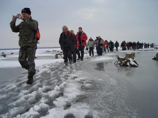 Ice-tour on Lake Tisza #Hungary  © Hungary Tourism Plc.