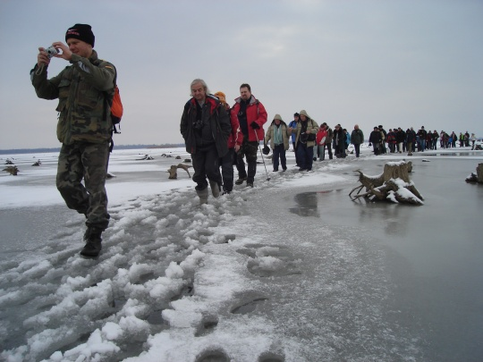 Ice-tour on Lake Tisza #Hungary  © Hungary Tourism Plc.