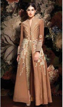 Tan #Brown #Color #Silk #Achkan Style Salwar Kameez | FH502076702 #indian , #salwar , #kameez , #dresses , #suits , #women , #ledies , #designer , #clothing , #boutique , #online , #shopping , #anarkali , #churidar , #palazo , @heenastyle , #dupatta , #fashion , #mode , #henna , #mehendi