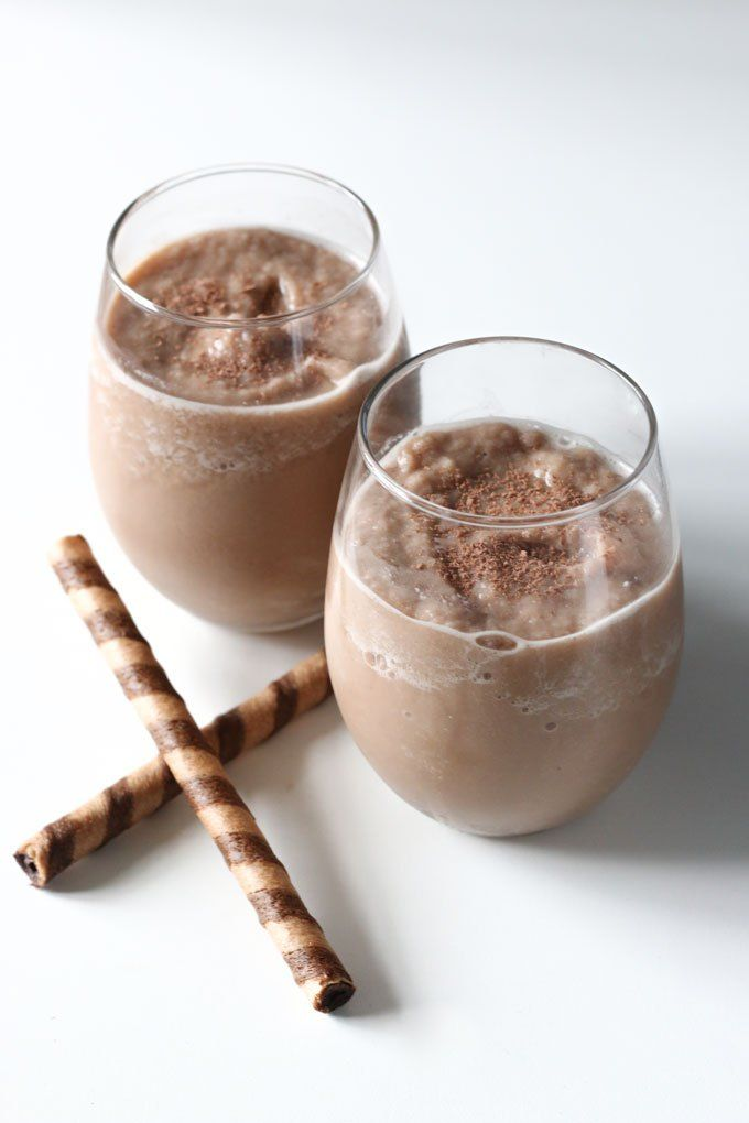 A quick and easy peppermint chocolate coffee smoothie that will keep you full and energized all morning long.