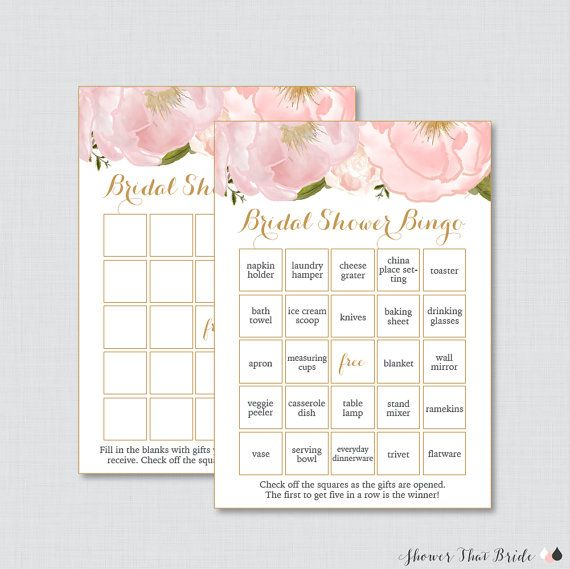 pink and gold floral bridal shower bingo by showerthatbrideshop shower in 2018 pinterest bridal shower bridal and bridal shower bingo