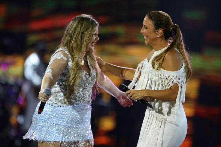 """Ivete Sangalo se derrete por Marília Mendonça no Show da Virada: """"É um talento essa menina!"""" ��"""
